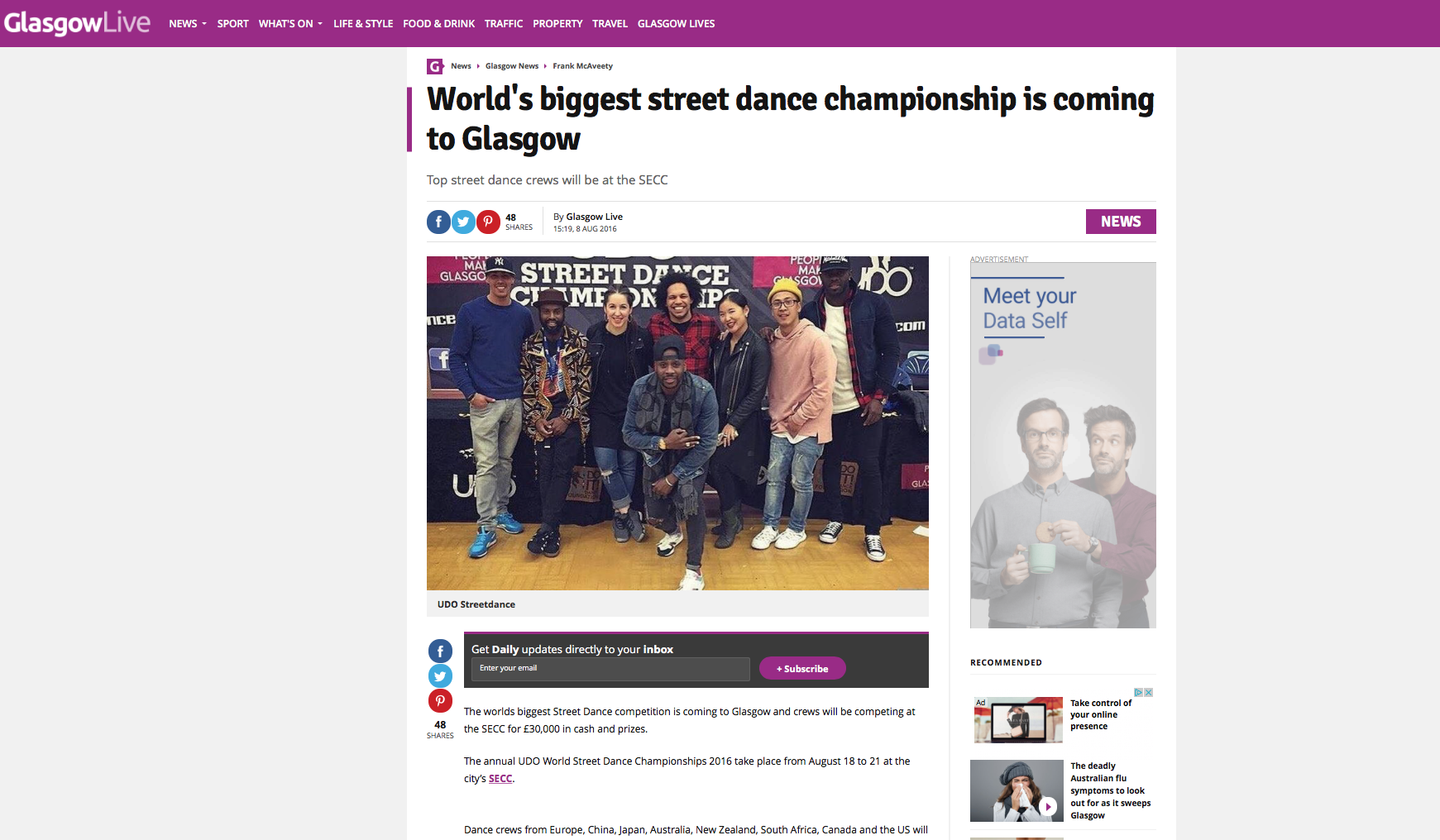 UDO World Street Dance Championships Glasgow 2017